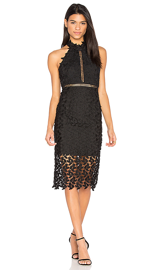 0311378d Bardot Gemma Sleeveless Halter Lace-Guipure Cocktail Dress In Black ...