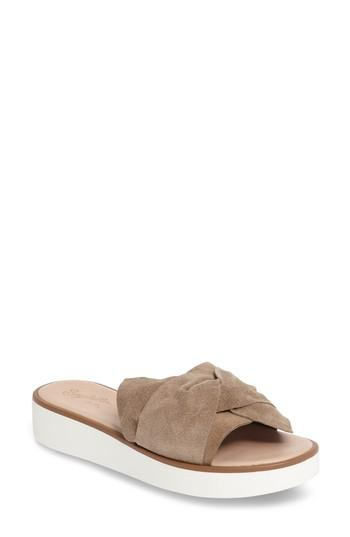 cc5556d4c45a Seychelles Coast Knotted Slide Sandal In Taupe Suede
