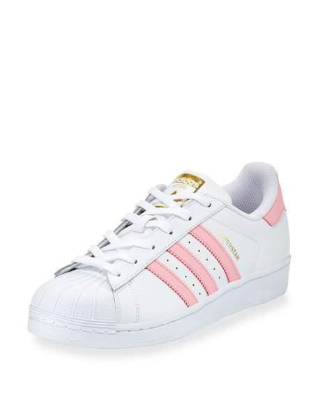 34c986744d Superstar Original Fashion Sneaker, White/Pink