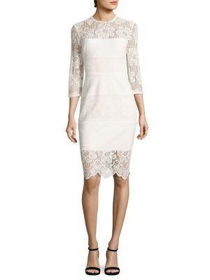 Trina Turk Haute Havana Divertida Midi Dress In White Wash