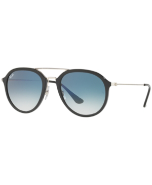 Ray Ban Ray-Ban Sunglasses, Rb4253 50 In Black/Blue Gradient