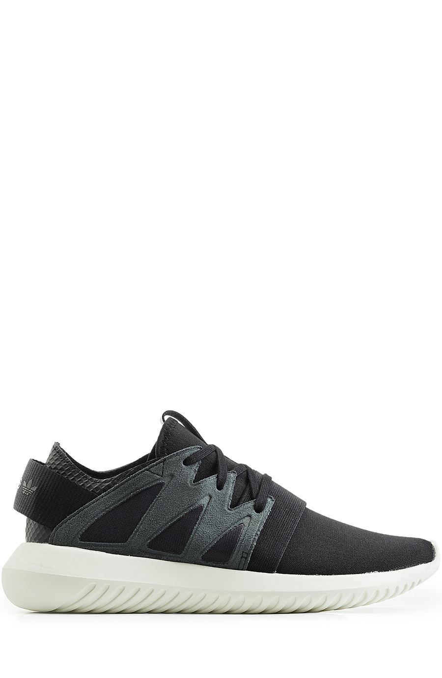 Adidas Originals Tubular Viral Sneakers With Leather In Black