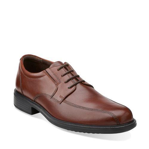 Men's Tilden Walk Oxford Men's Shoes in Dark Tan Leather