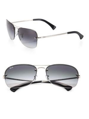 87880e84ef Ray Ban Caravan 61Mm Navigator Sunglasses In Silver