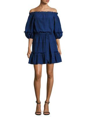 Parker Haven Cotton Dress In Lazuli