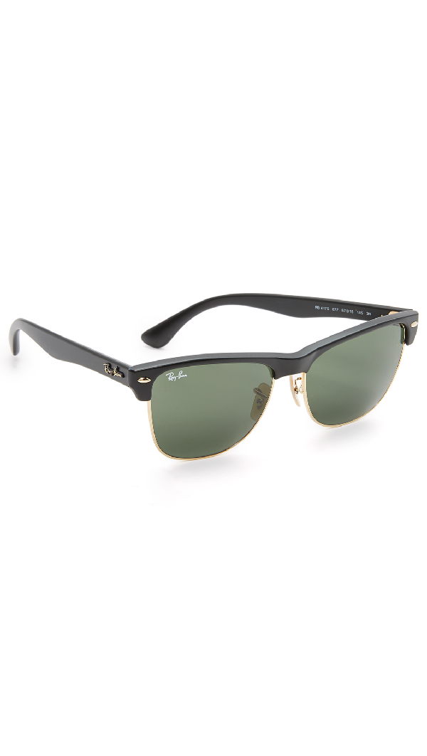 c3062f6c05b82 Ray Ban Clubmaster Square-Frame Acetate And Gold-Tone Sunglasses - Black -  One