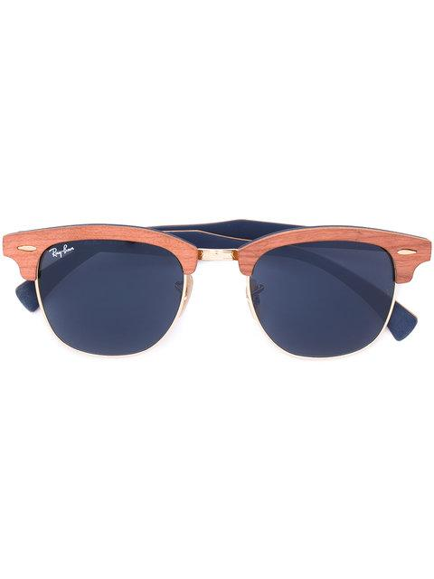 Ray Ban 'clubmaster Wood' Sunglasses In Brown