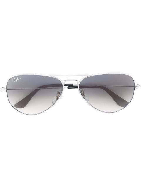 Ray Ban Aviator Sunglasses In Metallic
