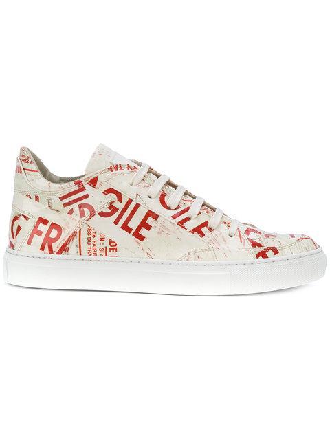 Mm6 Maison Margiela Fragile Pattern Sneakers