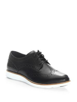 Cole Haan Leather Wingtip Oxfords In Black