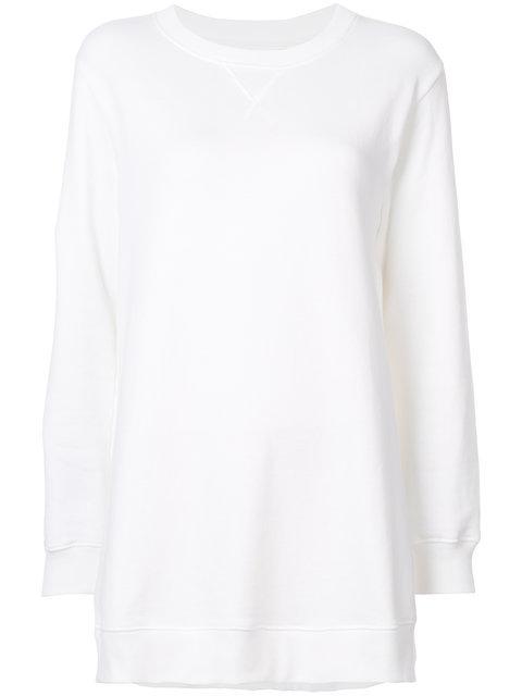 Mm6 Maison Margiela White Basic Sweatshirt
