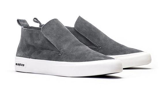 Seavees Huntington Middie Sneakers In Greyboard