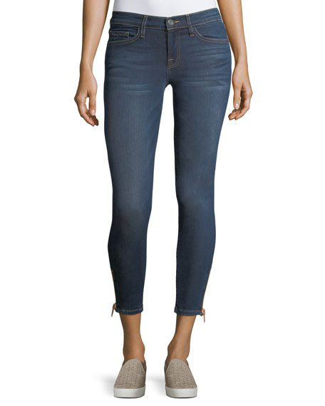 Etienne Marcel Naomi Mid-rise Skinny Cropped Jeans In Indigo