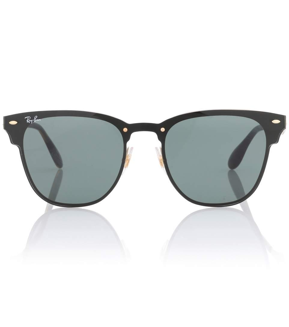 c2d935073773 Ray Ban Rb3576 Blaze Clubmaster Sunglasses In Black