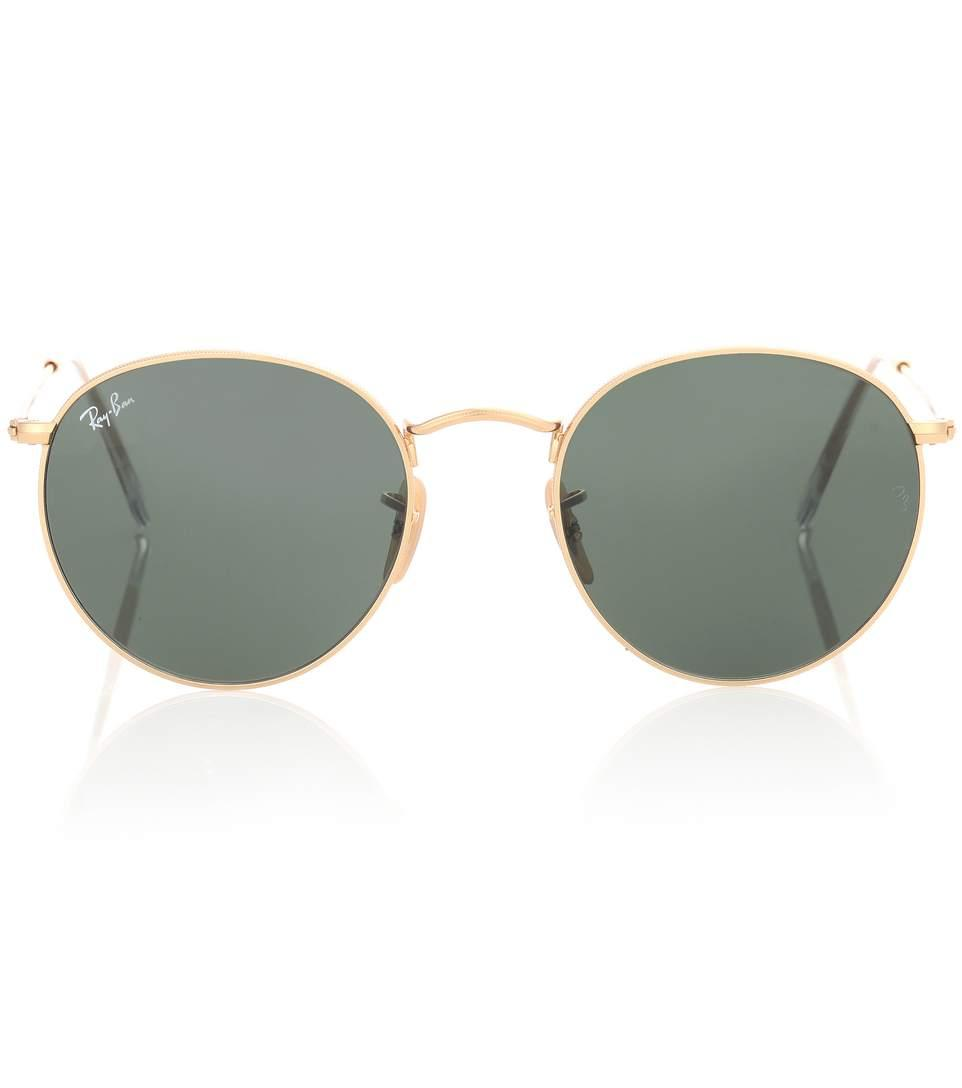 Ray Ban Rb3447 Round Sunglasses In Gold