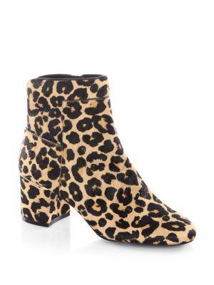 Cole Haan Arden Leopard-print Fur Booties In Black