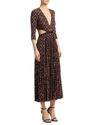 A.l.c Reece Silk-blend Dress In Burgundy