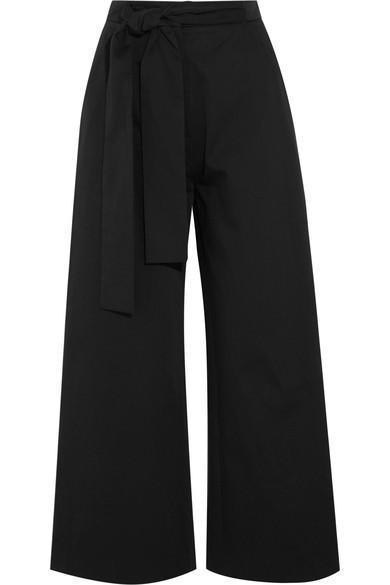 Saloni Elma Cotton-blend Culottes In Black