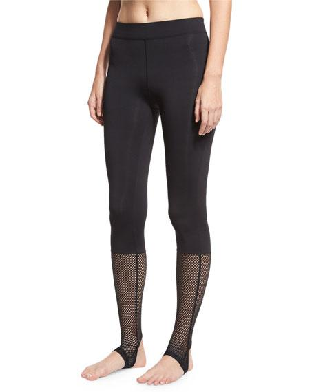 Koral Vertex Mesh Stirrup Leggings, Black