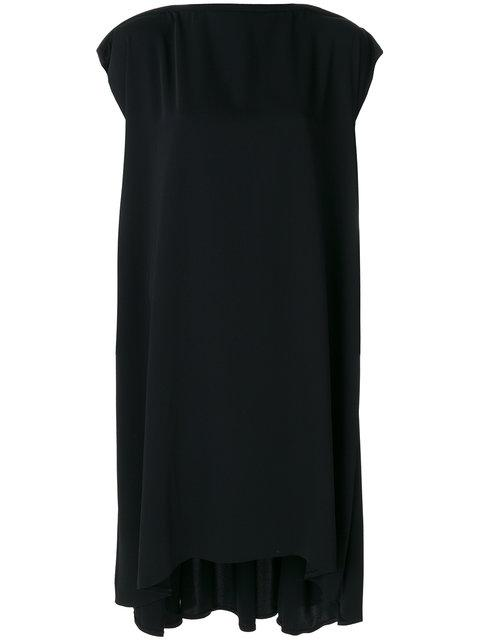 Mm6 Maison Margiela Imitation Pearl Belt Shift Dress In Black