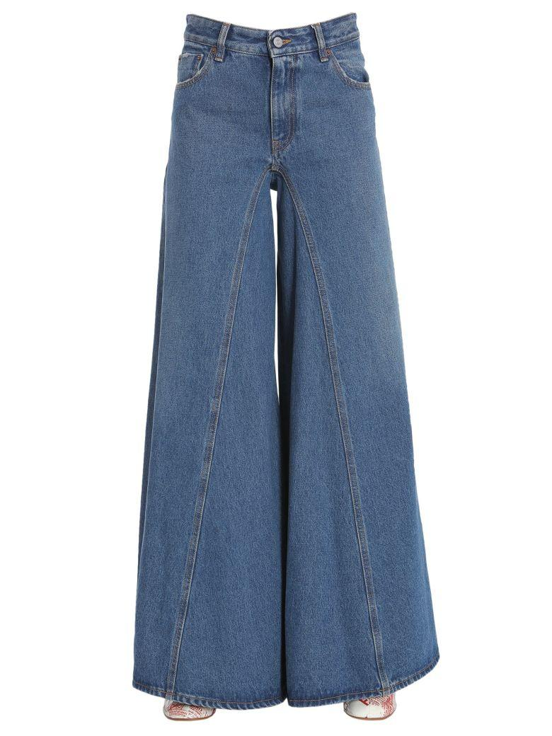 Mm6 Maison Margiela Oversized Cotton Denim Jeans In Blu