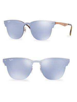 2c8ef535dd613 Ray Ban 47Mm Blaze Mirrored Clubmaster Sunglasses In Blue