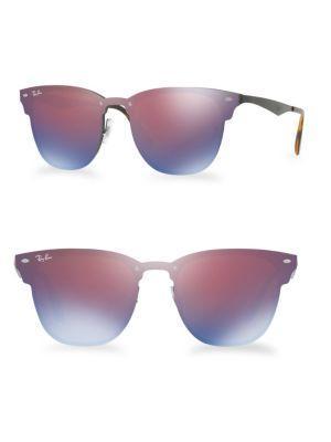 Ray Ban 47mm Blaze Mirrored Clubmaster Sunglasses In Multi