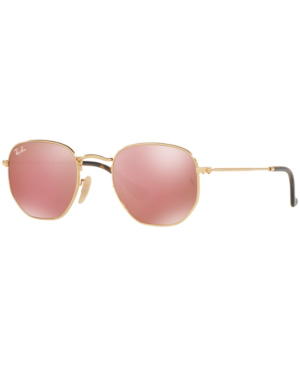 Ray Ban Ray-ban Hexagonal Flat Lens Sunglasses, Rb3548n 48 In Gold/copper Mirror