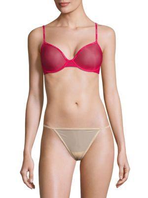 Calvin Klein Underwear Sheer Marquisette Demi Bra In Ul1 Sultry