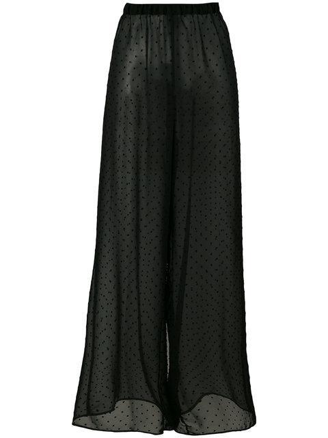 Mm6 Maison Margiela Sheer Wide-legged Trousers