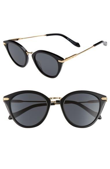 Sonix Quinn 48mm Cat Eye Sunglasses - Black/ Black Solid