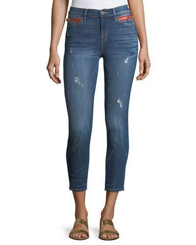 Etienne Marcel Kendall High-waist Cropped Skinny Jeans In Indigo