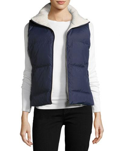 Soft Joie Hendrick Reversible Down Vest In Blue