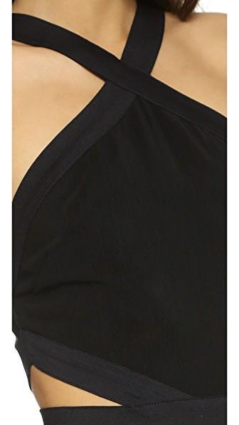 Bec & Bridge Parallel Halter Dress In Black