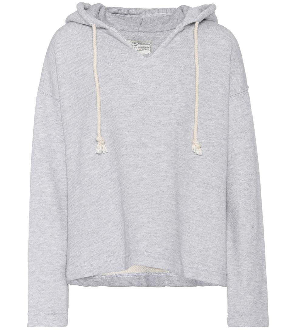 Current Elliott The Lounge Cotton-blend Hoodie In Grey