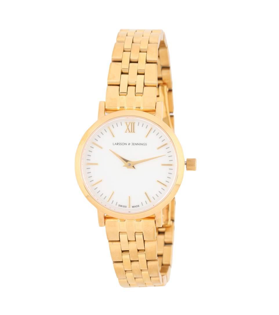 Larsson & Jennings Lugano Vasa 26mm Stainless Steel Watch In Gold