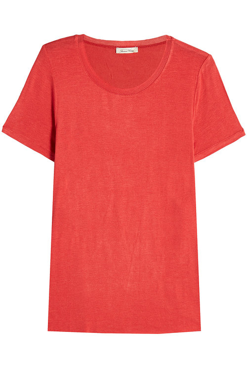 American Vintage Jersey T-shirt With Wool In Red