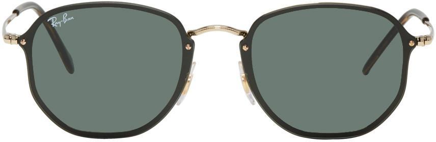 Ray Ban Gold Blaze Hexagonal Sunglasses