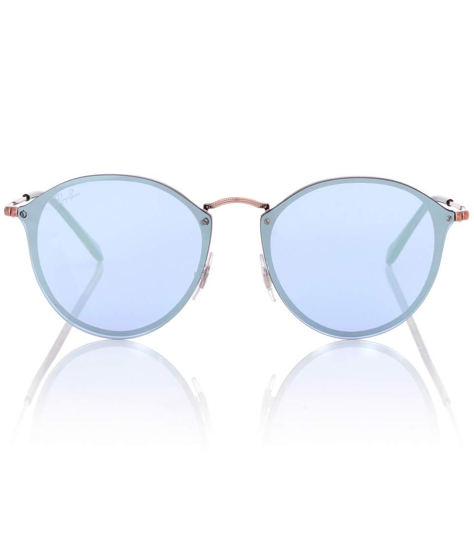 Ray Ban Rb3574 Blaze Round Sunglasses In Blue