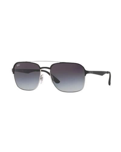 Ray Ban Metal Navigator Sunglasses, Black