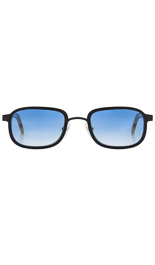 Blyszak Black & Blue Collection Iii Sunglasses In Gloss Black & Light Tortoise