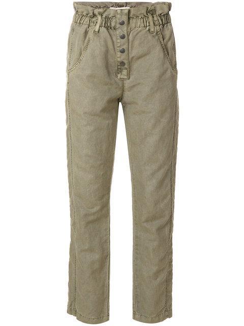 Current Elliott Paperbag Cropped Jeans