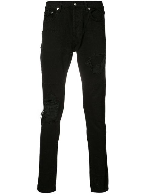 Mr. Completely Distressed Skinny Jeans - Nero