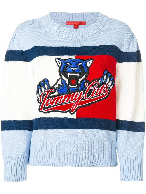 Tommy Hilfiger Hilfiger Collection Tommy Cats Cropped Sweater - 910