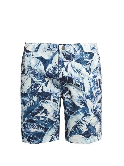 "Onia Calder 7.5"" Swim Shorts In Navy Multi"