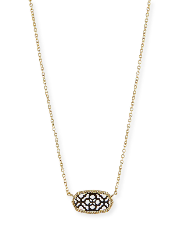 Kendra Scott Elisa Filigree Pendant Necklace In Gold