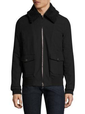 Twenty Textured Cotton Jacket In Black