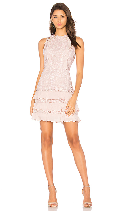 Parker Zahara Combo Sleeveless Lace Cocktail Dress In Pink