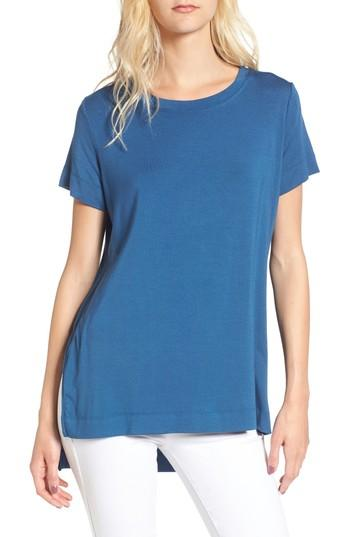 Amour Vert Paola High/low Tee In Ensign Blue