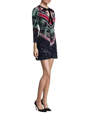 Saloni Aleria Silk Mini Dress In Multi